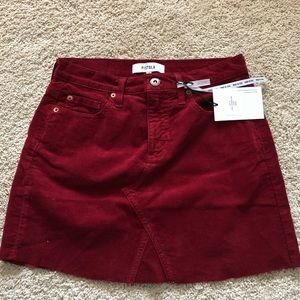 Corduroy red skirt